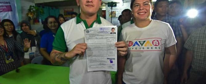 Baste and Mayor Sara Duterte of Davao City
