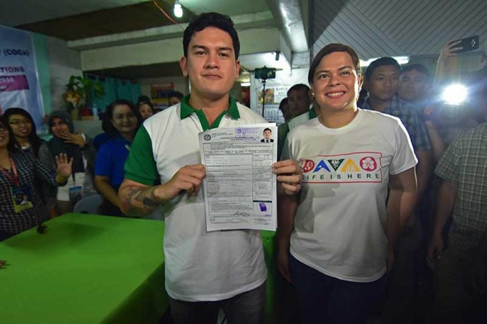 Baste and Mayor Sara Duterte of Davao City