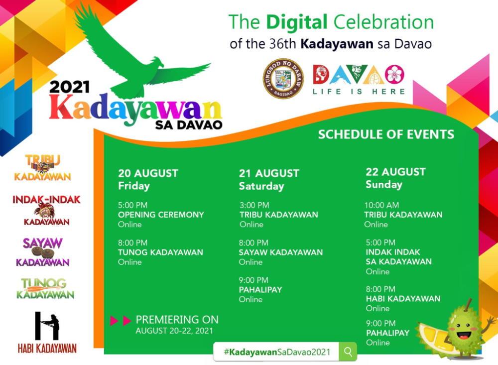 Kadayawan Festival 2021 Schedule